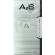 Сигареты A&B SUPER SLIMS SILVER