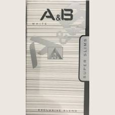 Сигареты A&B WHITE Super Slims